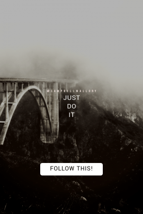 Call to action poster design - #CallToAction #Wording #Saying #Quote #square #black #bridge #controls #rounded #overlooks #fog