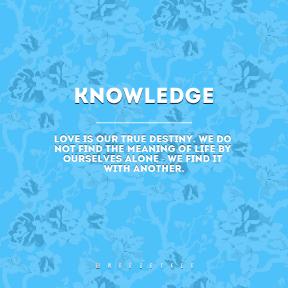 Square design layout - #Saying #Quote #Wording #line #blue #flowering #plant #flora #textile #organism #flower #design