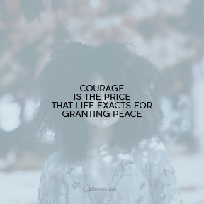 Square design layout - #Saying #Quote #Wording #black #hair #girl #stands #before #curly #blurry
