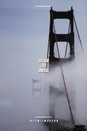 Poster Saying Layout - #Quote #Wording #Saying #link #cloud #bridge #fixed #fog #sky #suspension #water