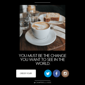 Call to action design - #Saying #Quote #CallToAction #Wording #water #glasses #cappuccinos #latte #trademark