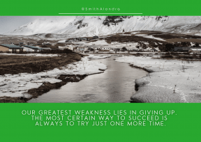 Quote image - #Quote #Wording #Saying #winter #loch #geological #banks #sky #quiet #mountains #highland #town #tundra