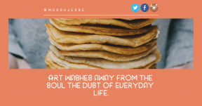 Quote image - #Quote #Wording #Saying #cup #pancakes #brand #holding #beak #dish #azure #line
