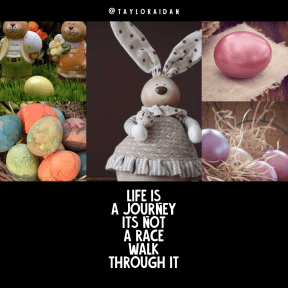 Quote image - #Quote #Wording #Saying #easterbackground #hare #eggs #egg #colorful