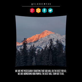 Quote image - #Quote #Wording #Saying #mountains #font #landforms #with #sign