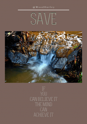 Quote image - #Quote #Wording #Saying #water #nature #macro #waterfall #element #background