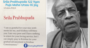 Srila Prabhupada 122 Vyas Puja Maha Utsav
