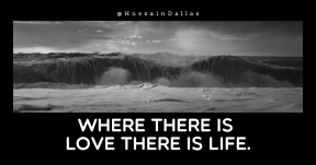 Quote image - #Quote #Wording #Saying #shore #black #and #wave #photography