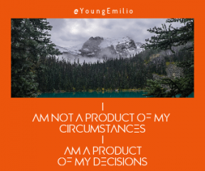 Quote image - #Quote #Wording #Saying #cloudy #coniferous #wilderness #surrounding #and