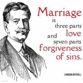 Mitchell - marriage love forgiveness of sins