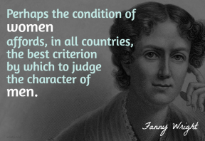 Wright - condition of women character of men
