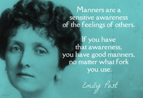 Post - manners sensitive awareness fork
