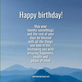 20th birthday wishes - 2