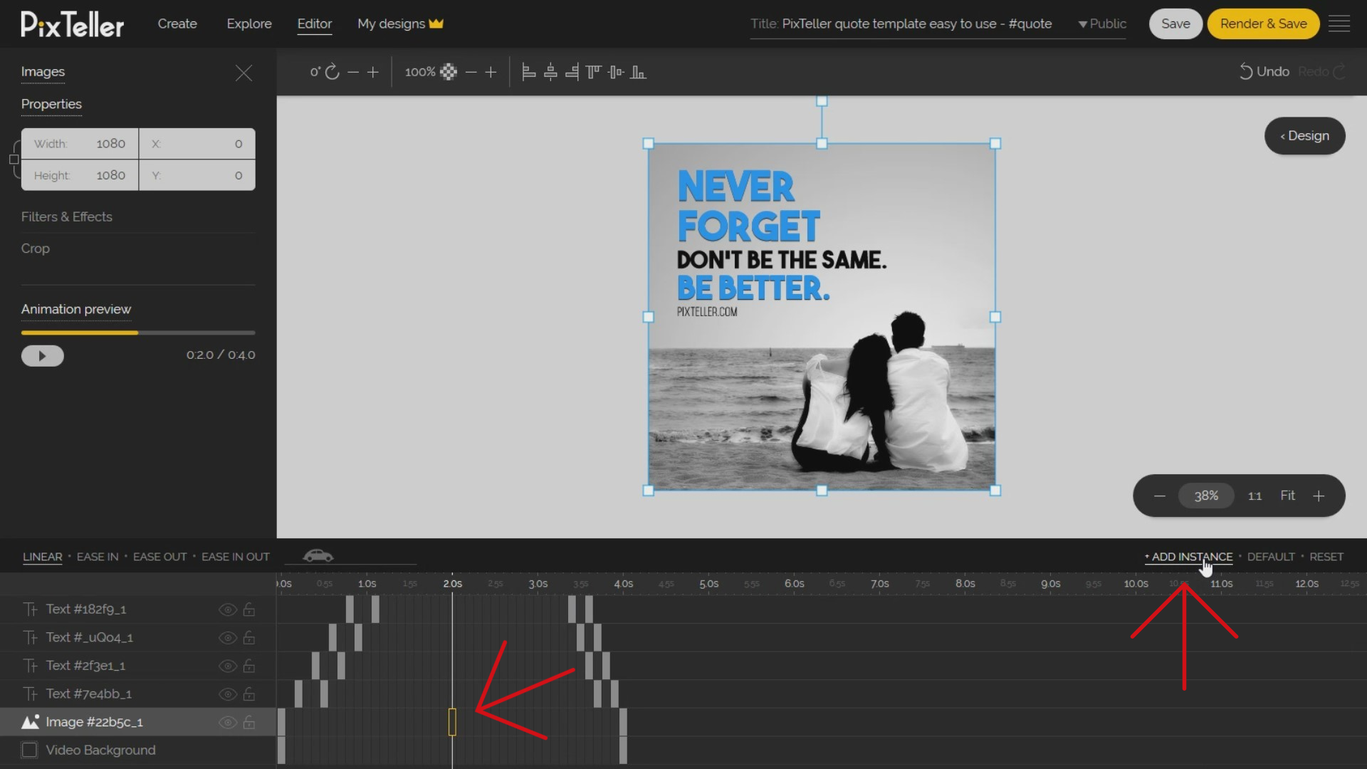 How to animate the background image in Animation Mode