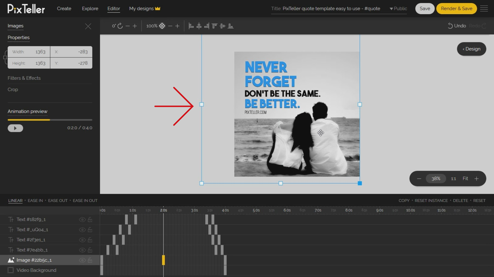 How to scale and reposition the background image in Animation Mode