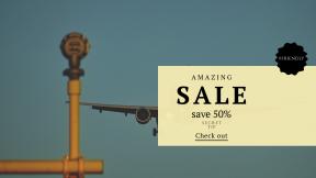 FullHD image template for sales - #banner #businnes #sales #CallToAction #salesbanner #frame #heathrow #raggedborders #an #engine #aircraft #swirly