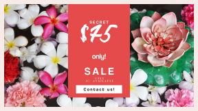 FullHD image template for sales - #banner #businnes #sales #CallToAction #salesbanner #flat #pink #control #controls #colour #flower #lay #above