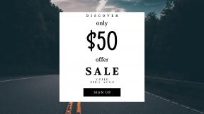 FullHD image template for sales - #banner #businnes #sales #CallToAction #salesbanner #asphalt #road #city #car #house #hope #carolina