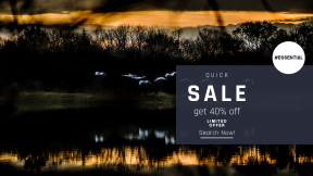 FullHD image template for sales - #banner #businnes #sales #CallToAction #salesbanner #bank #darkness #evening #sky #wetland #night #water #river #phenomenon