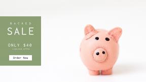 FullHD image template for sales - #banner #businnes #sales #CallToAction #salesbanner #bank #handmade #pink #pig #coin #craft #piglet #saving #pottery #piggy