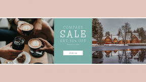FullHD image template for sales - #banner #businnes #sales #CallToAction #salesbanner #latte #brick #art #ice #house