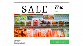 FullHD image template for sales - #banner #businnes #sales #CallToAction #salesbanner #supermarket #veggie #pepper #chile #chore #vegetable #broccoli #cabbage