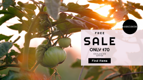 FullHD image template for sales - #banner #businnes #sales #CallToAction #salesbanner #leaf #fruitful #branch #gardening #food #vine #fresh #farm #plant #garden