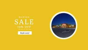 FullHD image template for sales - #banner #businnes #sales #CallToAction #salesbanner #building #light #store #car #parking #empty #supermarket #night #city
