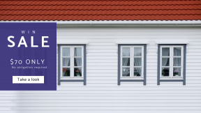 FullHD image template for sales - #banner #businnes #sales #CallToAction #salesbanner #facade #elevation #sash #window #estate #siding #property