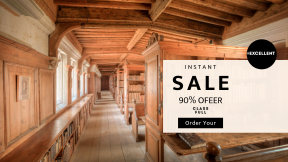 FullHD image template for sales - #banner #businnes #sales #CallToAction #salesbanner #ornate #education #interior #univesity #library #building #pew #shelves #beautiful