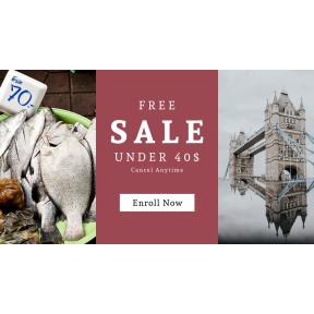 Image design template for sales - #banner #businnes #sales #CallToAction #salesbanner #reflection #landmark #fishmonger #bargain #chef #bucket #container #tower #england