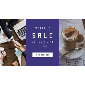 Image design template for sales - #banner #businnes #sales #CallToAction #salesbanner #collaboration #latte #partnership #companion #american #shop
