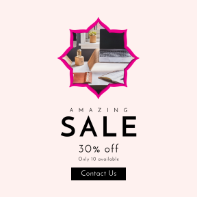 Image design template for sales - #banner #businnes #sales #CallToAction #salesbanner #scalloped #lamp #inset #shapes #and #monitor #background #clouds