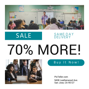 Image design template for sales - #banner #businnes #sales #CallToAction #salesbanner #school #tutor #circle #circles #business #woman #stock #office