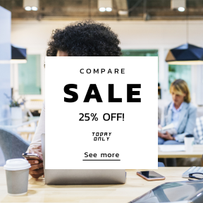 Image design template for sales - #banner #businnes #sales #CallToAction #salesbanner #technology #african #employee #westerner #american #woman #working #portrait #corporate