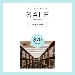 Image design template for sales - #banner #businnes #sales #CallToAction #salesbanner #store #shop #read #perspective #shelves #shelf #student #book #interior #literature