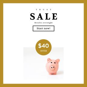Image design template for sales - #banner #businnes #sales #CallToAction #salesbanner #piggy #stuffed #bank #card #pig #saving #handmade #toy