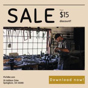 Image design template for sales - #banner #businnes #sales #CallToAction #salesbanner #working #workspace #workshop #blacksmith #carpenter