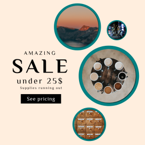 Image design template for sales - #banner #businnes #sales #CallToAction #salesbanner #exploring #variety #coffee #package #opiate #hiking #wild #latte #weekend #street