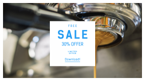 FullHD image template for sales - #banner #businnes #sales #CallToAction #salesbanner #restaurant #machine #café #drink #reflection #professional #latté #tech #technology #coffe