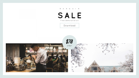 FullHD image template for sales - #banner #businnes #sales #CallToAction #salesbanner #barista #outside #student #classic #cafe #building #counter