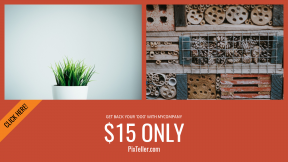 FullHD image template for sales - #banner #businnes #sales #CallToAction #salesbanner #wooden #plant #butterfly #greenery #detail #pot #white #small #grasses #clear