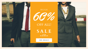 FullHD image template for sales - #banner #businnes #sales #CallToAction #salesbanner #corporate #street #smile #connection #person