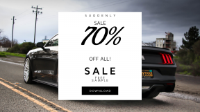 FullHD image template for sales - #banner #businnes #sales #CallToAction #salesbanner #sky #driving #mustang #engineering #road #sports #car #parking #street #muscle
