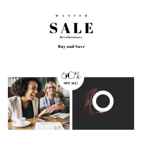 Image design template for sales - #banner #businnes #sales #CallToAction #salesbanner #person #afro #mug #laugh #american #lunch #notebook #black