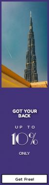 Skyscraper wide web banner template for sales - #banner #businnes #sales #CallToAction #salesbanner #architecture #point #sky #plane #spire #highrise #construction #burj #building #skyscraper