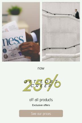 Portrait design template for sales - #banner #businnes #sales #CallToAction #salesbanner #black #relax #businessman #male #suit #stop #control