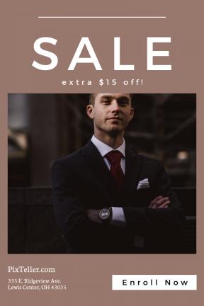 Portrait design template for sales - #banner #businnes #sales #CallToAction #salesbanner #businessman #light #sports #stop #option #professional #shapes
