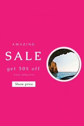 Portrait design template for sales - #banner #businnes #sales #CallToAction #salesbanner #cave #wallpapers #cove #view #landscape #sea