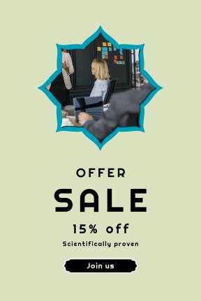 Portrait design template for sales - #banner #businnes #sales #CallToAction #salesbanner #backgrouns #colleague #note #insignia #person #recruitment